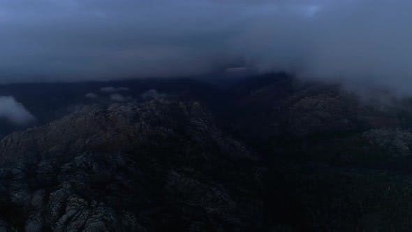 Thumbnail for Aerial View of Mountains and Fog