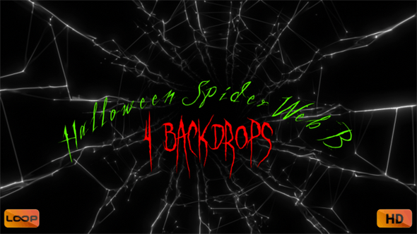 Thumbnail for Halloween Spider Web B Hd