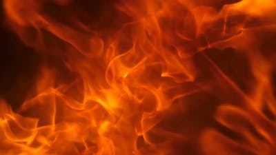 Fire Explosion to the Camera.