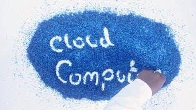 Blue Writing Cloud Computing