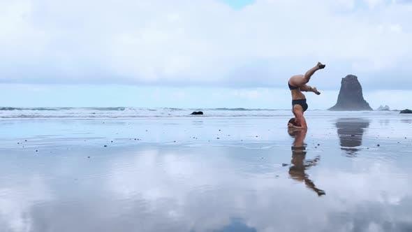 Thumbnail for Summer Sunrise Yoga Session on Beautiful Playa De La Tejita Beach with View on Atlantic Ocean