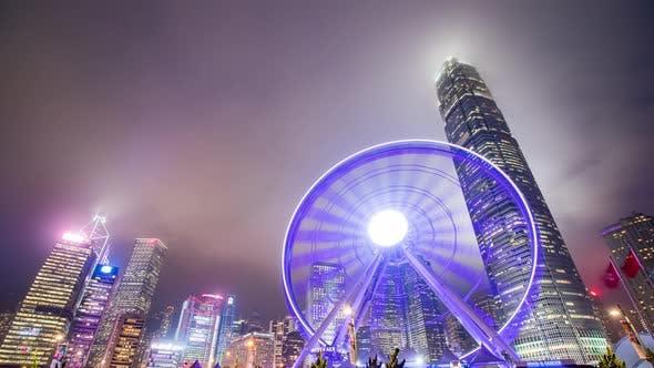 Time lapse of Hong Kong landmark