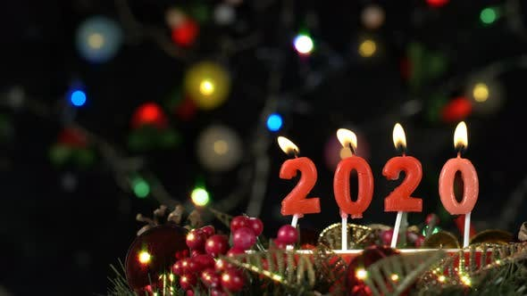Thumbnail for New Year 2020 Candle And Bokeh 2
