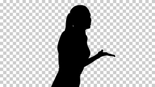 Silhouette  businesswoman stressed , Alpha Channel
