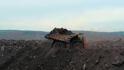 A Giant Track with Coal
