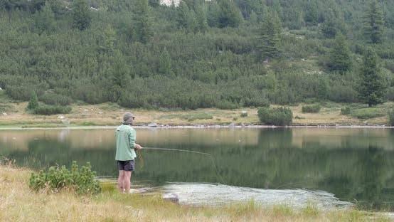 Thumbnail for Fly Fishing On Mountain Lake In Pirin In Bulgaria