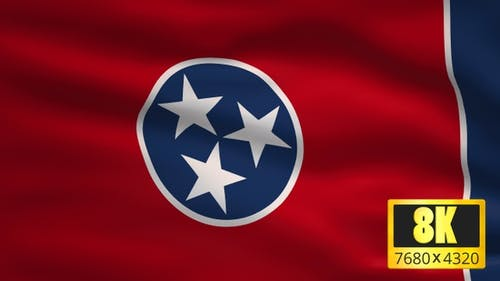 8K Tennessee State Flag Background