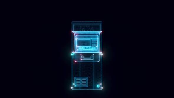 Automated Teller Machine Or Atm Hologram 4k