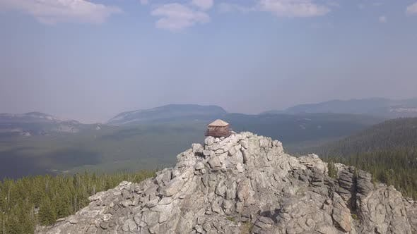 Thumbnail for Aerial Drone of Bighorn Mountains CCC Fire Tower Lookout