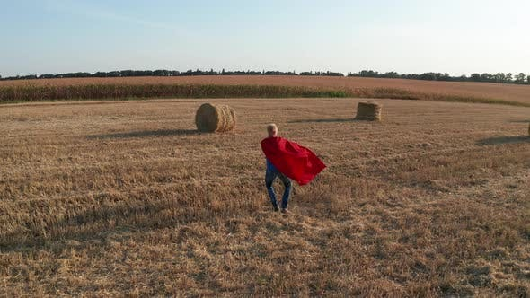 Cover Image for Aerial Shot of Dad Circling Son Over Wheat Field
