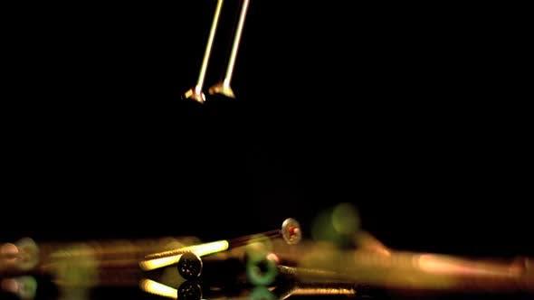 Copper nails falling