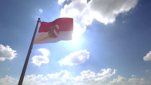 Nuremberg City Flag on a Flagpole V4