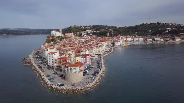 Thumbnail for Aerial View of Piran, Slovenia