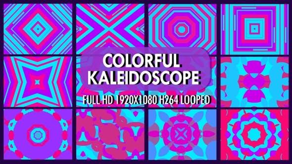 Thumbnail for Buntes Kaleidoskop VJ Loop Pack
