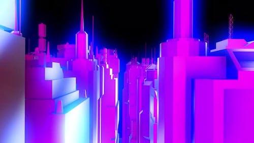 4K metal cityscape