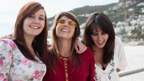 Thumbnail for Three girls laughing