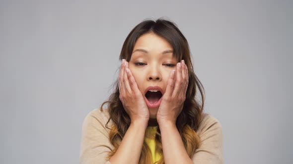Thumbnail for Shocked Asian Woman with Open Mouth