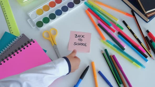 Change Back to School Sticker to Drawn Smile Face