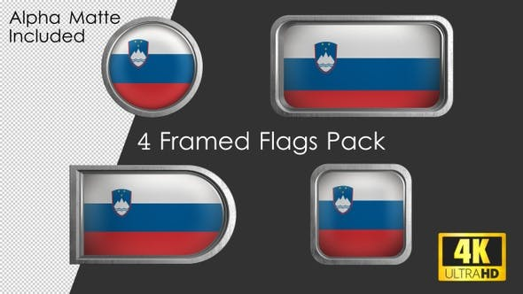 Thumbnail for Framed Slovenia Flag Pack