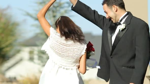 Thumbnail for Bride and groom at wedding dance