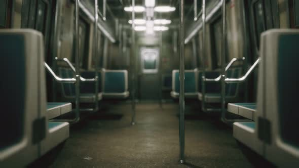 Thumbnail for Subway Car in USA Empty Because of the Coronavirus Covid-19 Epidemic