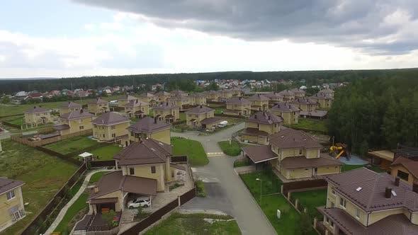 Luftaufnahme des ruhigen Luxus-Wohngebiets. 15