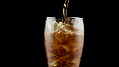 Glass Of Coke And Ice