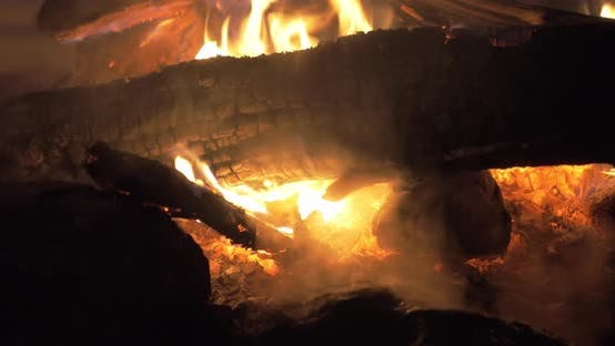 Thumbnail for Outdoor fire at night