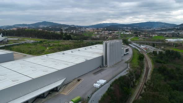 Factory with Storage Tanks
