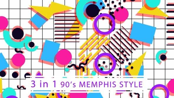 Thumbnail for 90's Memphis Style (White)