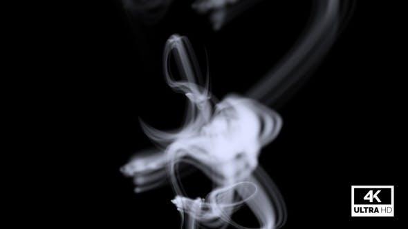 Wispy White Smoke Nahtlos Rising