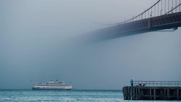 Thumbnail for Tourist Ship Under Golden Gate