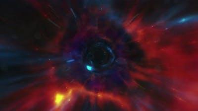 Male Eye Zoom to Wormhole