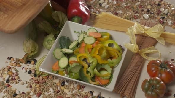 Preparing Vegetables Salad