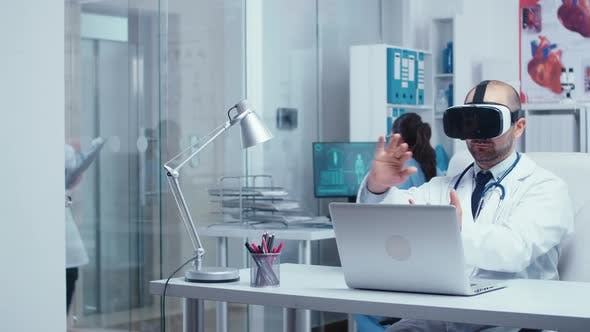 Medical Personnel Working with Virtual Reality