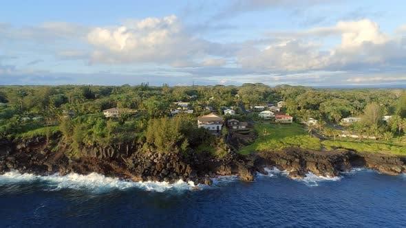The Coastline of Pahoa in Hawaii in the Morning
