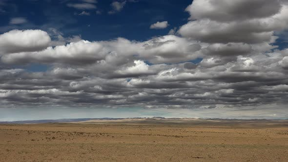 Clouds and Climatic Conditions Over The Vast Arid Desert