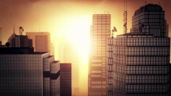 Thumbnail for Flying Above City 4K