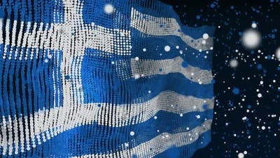 Greek Flag Particle Animation