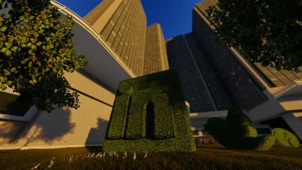 Thumbnail for Linkedin Grass Logo And Skyscrapper