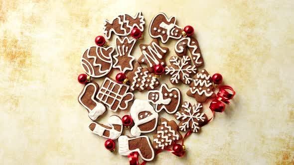 Thumbnail for Christmas Cookies Compostion on Table