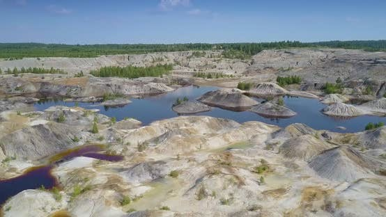 Thumbnail for Panorama Restored Nature in Spent Clay Quarry with Lakes