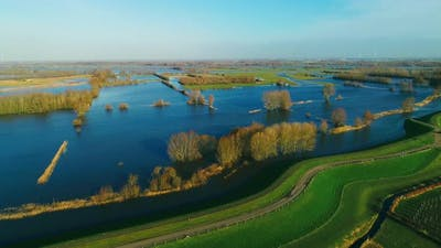 Fields and flood