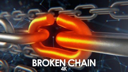 Digital Chain Breaking in Slow Motion 4K