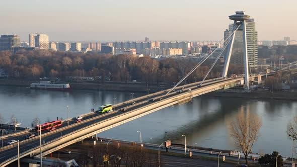 Thumbnail for Timelapse of SNP Bridge in Bratislava