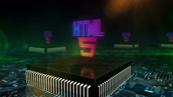 HTML5 programming symbol 3d animation