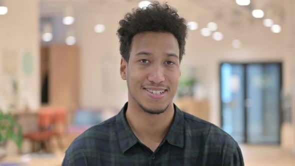 African American Man Smiling at Camera