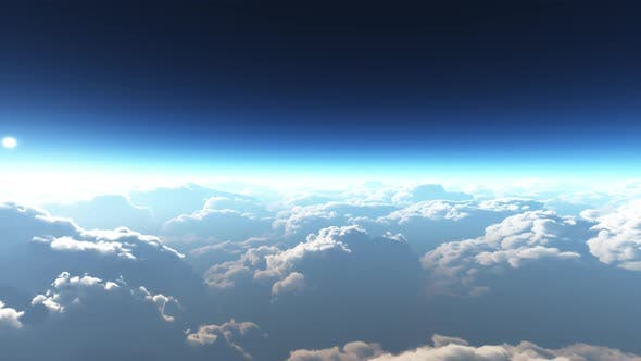 Thumbnail for Earth View Above The Cloud 05 4K