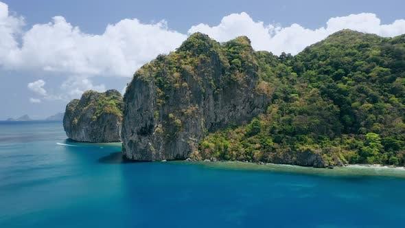 Thumbnail for Limestone Rocks of Lagen Island. El Nido, Palawan, Philippines. Paradise Tropical Sandy Ipil Beach
