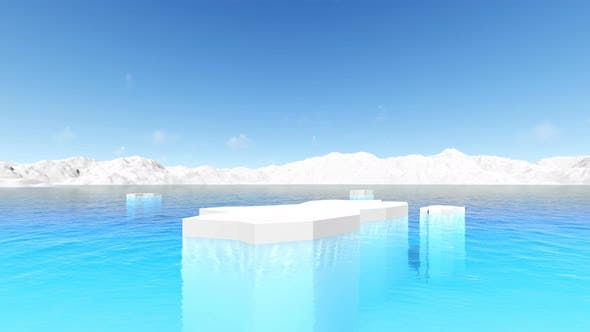 Icebergs Antarctic Ocean Environment Panorama Landscape Global Warming Antarctica Melting Blue Water
